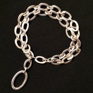 Sterling Sliver Charm Bracelet -or- 'Y' Choker